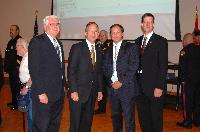 Left to Right: Dr. Denis Onieal, Superintendent National Fire Academy, DE Governor Jack Markell, Bill Troup Project Officer USFA, Brian Montgomery US DOJ at the Slow Down Move Over Premier